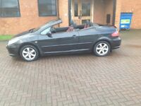 PEUGOET 307 1.6 ALLURE CONVERTIBLE (07) LEATHER TRIM,SERVICE HISTORY,NICE MILES, HPICLEAR.