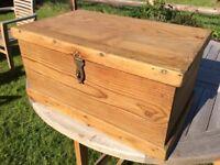 Charming old pine storage chest