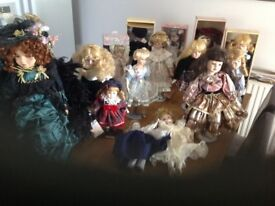 15 porcelain dolls good condition. Open to offers around £50