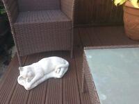 Sleeping / Resting Garden Cat Ornament