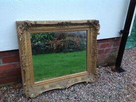 Ornate gesso plaster frame