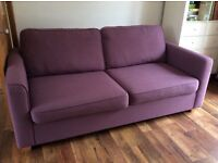 Lilac Sofa bed from John Lewis