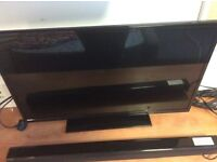 32 inch; HD Digihome tv with logik soundbar good condition