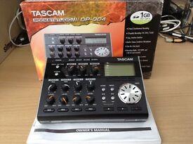 TASCAM DP004 4 Track Digital Portastudio, Metronome & Tuner