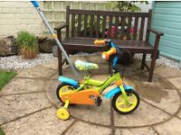 Childs First Bike with parent handle