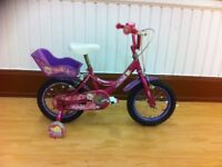 "Girls beginner bike - refurbished Raleigh Molly: 14"" wheels"