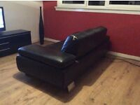 Stunning leather sofa only £90 (cost £650) collect Edinburgh