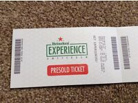 Are you going to Amsterdam? Heineken Experience ticket for sale!!