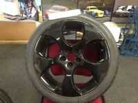 WHEELS AND TYRES 18inch Nice design Black finish