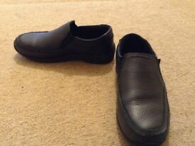 Nearly new boys slip on school shoes size 1