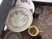 Large selection of glasses, bowls etc