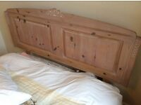STUNNING LIMED PINE DOUBLE HEADBOARD IN EXCELLENT CONDITION. FROM MARKS & SPENCER in 1990
