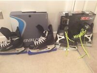 Bauer & CCM ice skating boots.