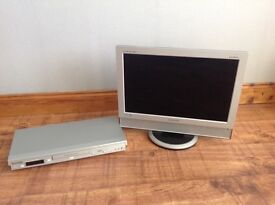 "Samsung 19"" LCD TV & Panasonic DVD player"