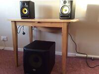 KRK Speaker Bundle 2x Rokit 5 rpg2 and KRK 10s Subwoofer