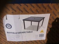 Mayfield rattan effect square table