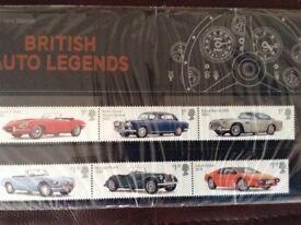 Royal Mail 7 presentation packs of stamps. Stamp value £80+