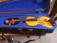 Good quality 3/4 violin in case including Kun shoulder rest, Bristol