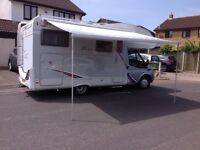 Motorhome 2008 4 berth garage towbar 2 fixed double beds 5400 miles from new