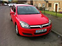 VAUXHALL ASTRA red MANUAL PETROL