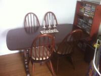 1960's Ercol dark wood table