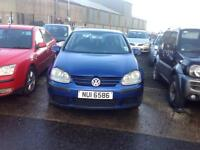 2004 VOLKSWAGEN GOLF S MK5 1.4 PETROL BREAKING FOR PARTS ONLY POSTAGE AVAILABLE NATIONWIDE