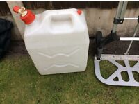 Water carrier with tap in a clean condition in and out as new