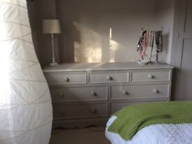 Chest of drawers - solid wood painted