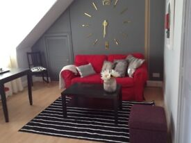 GALASHIELS, LINTBURN STREET, BEAUTIFUL ONE BEDROOM FLAT, GAS CH, TRENDY DECOR, SUNTRAP GARDEN,
