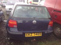 1999 MK4 VOLKSWAGEN GOLF S 1.4 PETROL BREAKING FOR PARTS ONLY POSTAGE AVAILABLE NATIONWIDE