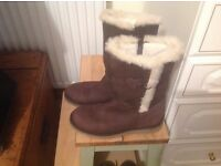 JOHN LEWIS FUR LINED BOOTS SIZE 4