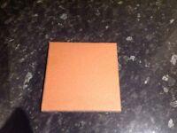 """6""""x6"""" Reclaimed Glazed Quarry floor tiles in Red"""