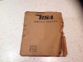 BSA motorbike D1 original service manual 1948 / 1952