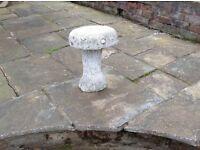 Garden mushroom ornament/ concrete seat