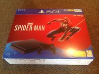 PS4 Spider-Man 500GB Console and game bundle brand new boxed and unopened