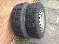 SNOW TYRES AND STEEL RIMS ,Vauxhall , Nissan Peugeot