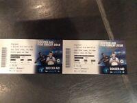 2 x SoccerAid tickets at Old Trafford. Face value £50 each