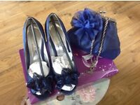 GORGEOUS WEDDING SHOES SIZE 36 AND MATCHING BAG