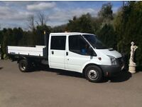 Transit crewcab tipper 2011 6 seater 6 speed one stop alloy body