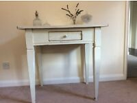 Shabby Chic Cream Console Table