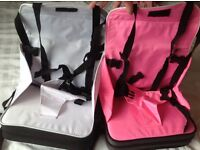 Travel feeding booster seats