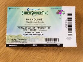 Phil Collins Hyde Park Friday 30th June
