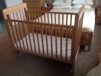 Cosatto drop-side cot with/without mattresss