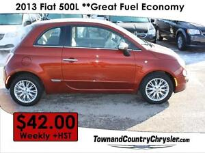 2013 FIAT 500 Lounge **Only $42.00 Weekly**