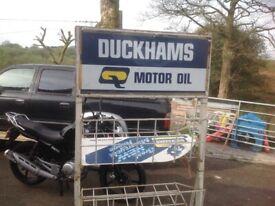 Duckhams motor oil garage rack