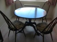 Ercol Dining Table and 4Chairs