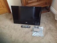 "JVC 26"" LCD TV with wall bracket no table top stand good working condition"