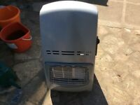 Mobile gas heater.