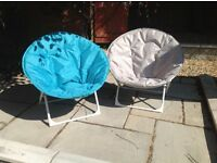 Lovely Pair of Moon Chairs