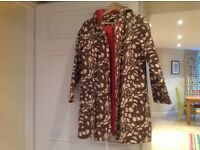 Ladies BODEN lined raincoat with hood size 10